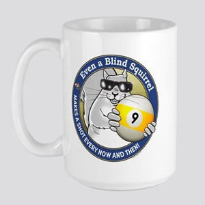 9-Ball Blind Squirrel Large Mug