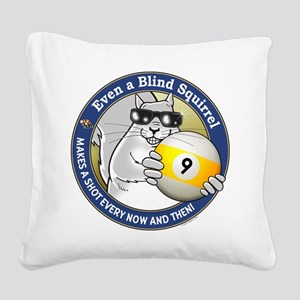 9-Ball Blind Squirrel Square Canvas Pillow