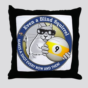 9-Ball Blind Squirrel Throw Pillow