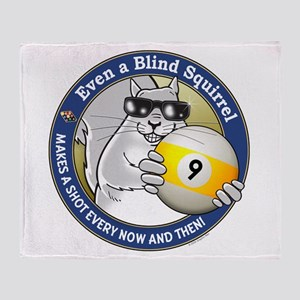 9-Ball Blind Squirrel Throw Blanket