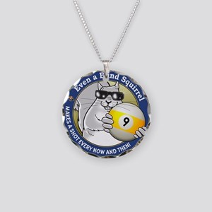 9-Ball Blind Squirrel Necklace Circle Charm