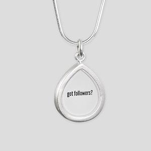 got followers? Silver Teardrop Necklace