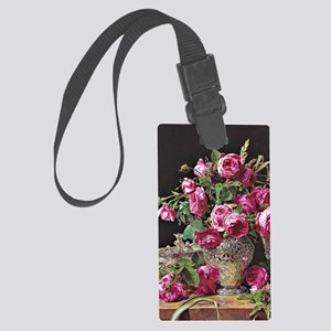 Roses, artwork by Ferdinand Geor Large Luggage Tag