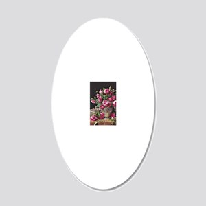 Roses, artwork by Ferdinand  20x12 Oval Wall Decal