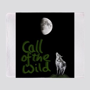 Call of The wild, The Wolf and the Moon Throw Blan