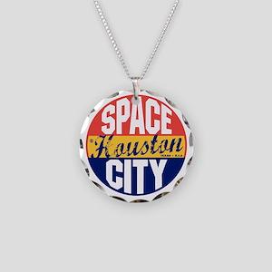 Houston Vintage Label B Necklace Circle Charm