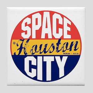 Houston Vintage Label B Tile Coaster