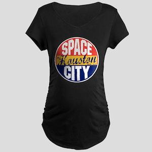 Houston Vintage Label B Maternity Dark T-Shirt
