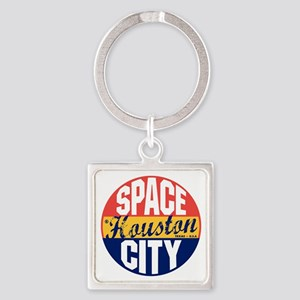 Houston Vintage Label B Square Keychain