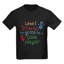 Future Tuba Player Kids Dark T-Shirt