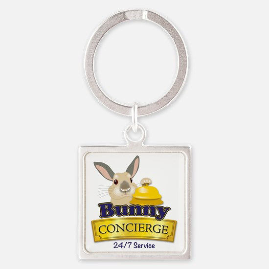 Bunny Concierge Square Keychain