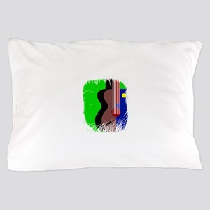 guitar abstract blob Pillow Case