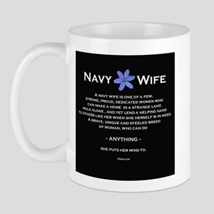 blknavywifebk Mugs
