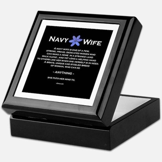 Funny Navy wife Keepsake Box