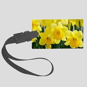 Trumpet Daffodil Large Luggage Tag