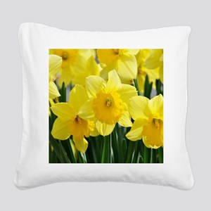 Trumpet Daffodil Square Canvas Pillow