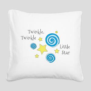 Twinke, Twinkle Little Star Square Canvas Pillow