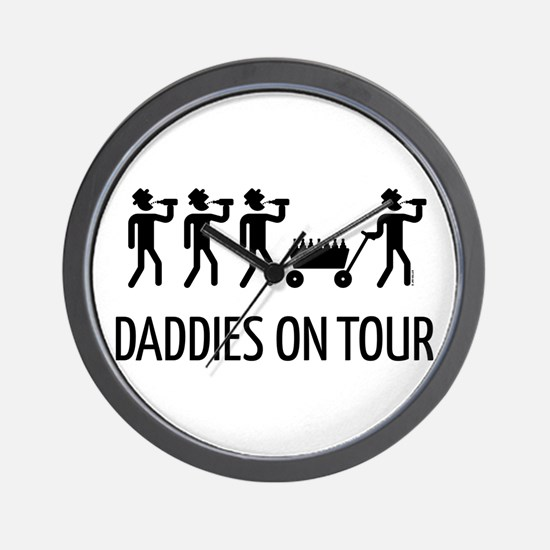 Daddies On Tour (Father's Day) Wall Clock