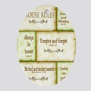 House Rules Oval Ornament