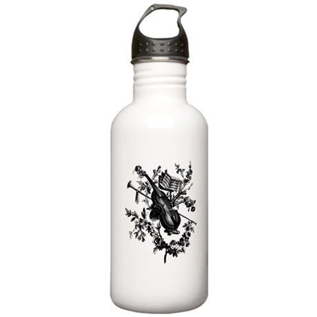 Violin & Roses Stainless Water Bottle 1.0L