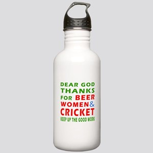Beer Women and Cricket Stainless Water Bottle 1.0L