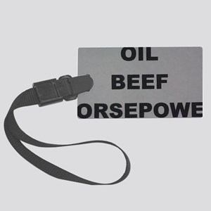 Oil Beef HP Large Luggage Tag