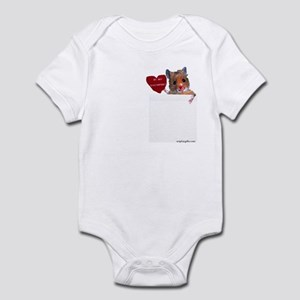 Hamster Valentine Infant Bodysuit