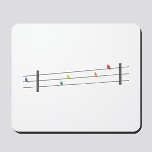 Birds on Wires Mousepad