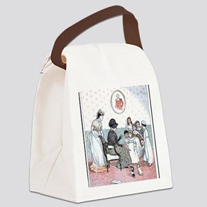 Cross Stitching Canvas Lunch Bag