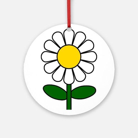 Daisy Flower Ornament (Round)