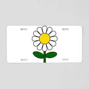 Daisy Flower Aluminum License Plate