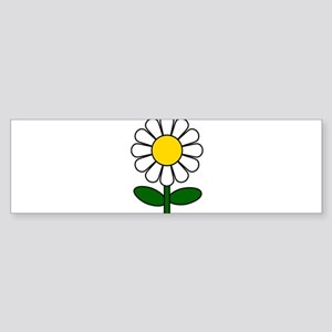 Daisy Flower Bumper Sticker