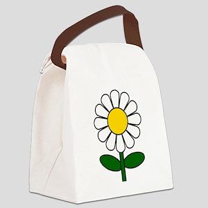 Daisy Flower Canvas Lunch Bag