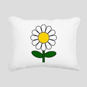 Daisy Flower Rectangular Canvas Pillow