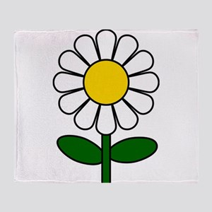 Daisy Flower Throw Blanket