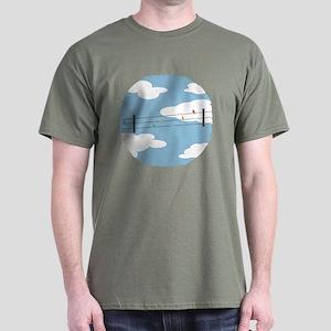 Birds on Wires Dark T-Shirt