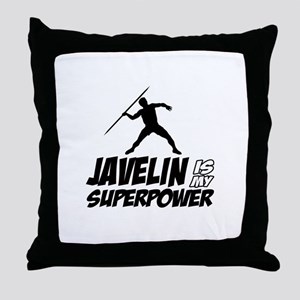 Javelin is my superpower Throw Pillow