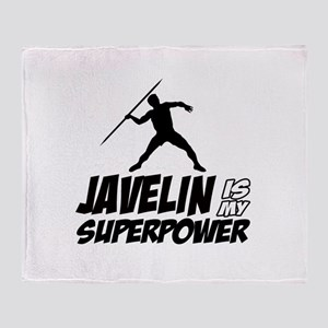 Javelin is my superpower Throw Blanket
