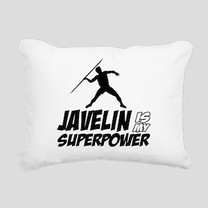 Javelin is my superpower Rectangular Canvas Pillow