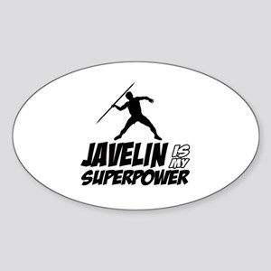 Javelin is my superpower Sticker (Oval)