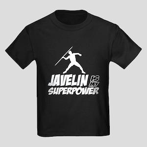 Javelin is my superpower Kids Dark T-Shirt