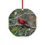 Valentine Cardinal Ornament (Round)