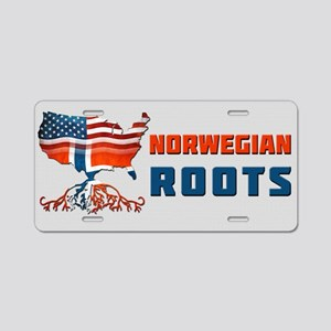 American Norwegian Roots Aluminum License Plate