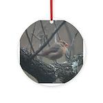 Valentine Lady Cardinal Ornament (Round)