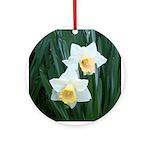 Valentine Daffodil Ornament (Round)