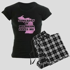 Somebody In Michigan Loves M Women's Dark Pajamas