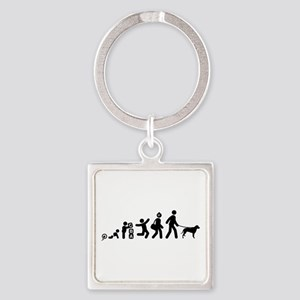 Curly Coated Retriever Square Keychain