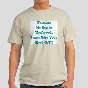 Warning My Son is Deployed Ash Grey T-Shirt