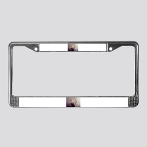 License Plate Frame featuring White Orchid