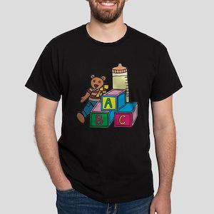 Teddy Bear & Blocks Dark T-Shirt